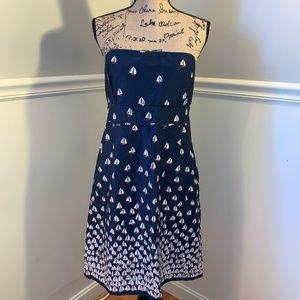 VINEYARD VINES Carolyn Sailboat Strapless Dress 14